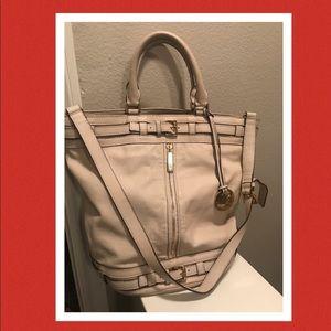 Michael Kors large tan leather handbag